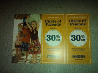 GYMBOREE Circle of Friends Coupon 30% Off Entire Purchase May 10 13