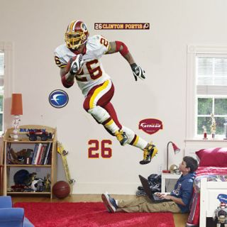 Clinton Portis Fathead Washington Redskins NFL Life Size Official Wall