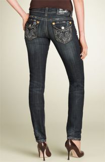 MEK Oaxaca Cigarette Leg Stretch Jeans (Dark Blue Wash)