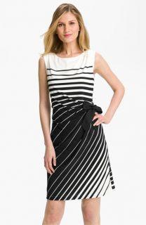 Tahari by Arthur S. Levine Stripe Jersey Dress