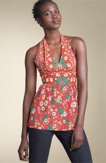 Plenty by Tracy Reese Printed Silk Halter Top
