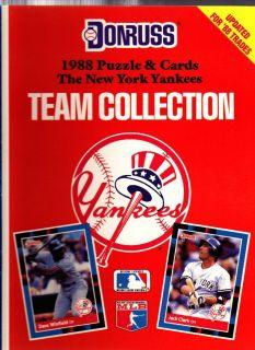 1988 DONRUSS BASEBALL TEAM COLLECTION NEW YORK YANKEES W UNCUT SHEETS