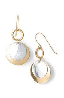 Marjorie Baer Two Tone Double Disc Earrings