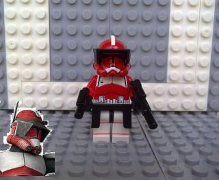 Lego Star Wars Clone Trooper Commander Fox Custom