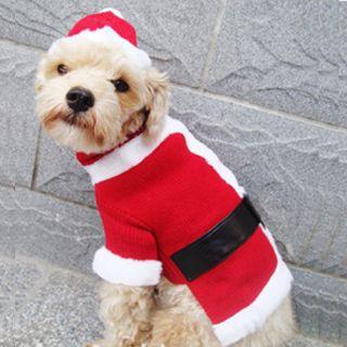 Santa Claus Cute Dog Doggies Apparel Costumes Clothes in Sz XS