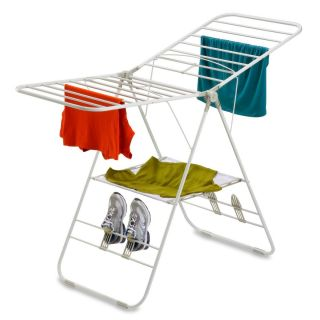 Do Collapsible Folding Laundry Clothes Air Dry Drying Rack White New