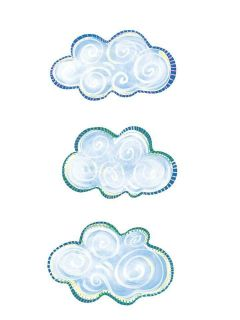 Clouds Cloud Cutouts Wall Decor Art Stickers 25 Wallies Decals Border
