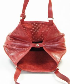 Michael Kors Red Colgate Large Grab Bag Leather Tote Handbag $348