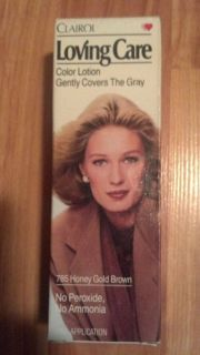 Clairol Loving Care Non Permanent Hair Color 785 Honey Gold Brown RARE