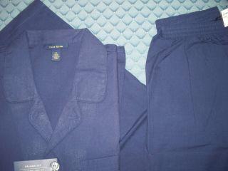 CLUB ROOM MACYS MENS PAJAMA SET PANTS SHIRT NAVY BLUE SIZE SMALL