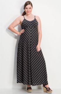 Gibson Stripe Maxi Dress (Plus)