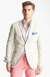 Michael Bastian Three Button Cotton & Linen Blazer