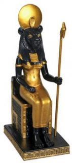 Sitting Sekhmet Collectible Figurine Statue Sculpture Figure Egypt New