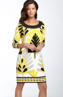 Maggy London Printed Matte Jersey Shift Dress