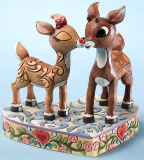 2011 Jim Shore Rudolph Traditions Clarice Kissing Rudolph Fig Free s H