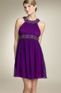 Aidan Mattox Beaded Halter Dress