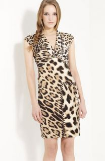 Roberto Cavalli Animal Print Knit Dress