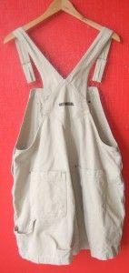 Khaki Denim Bib Shortalls Short Overalls New Plus Size XXL 2XL