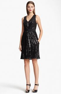 Moschino Cheap & Chic Sequin & Eyelet Dress