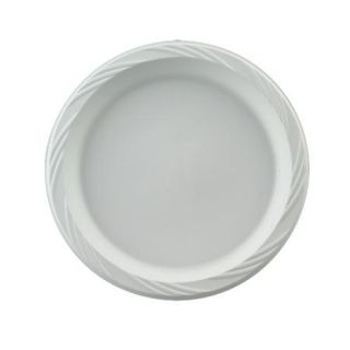 PLASTIC PACTIV DINNER PLATES 400 CT. DISPOSABLE WHITE PLASTIC 01