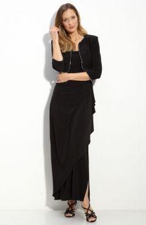 Alex Evenings Rhinestone Trim Jersey Dress & Bolero