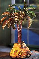 FIBER OPTIC PALM TREE MULTI COLOR PALM TREE ISLAND DECORATIONS
