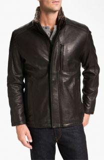 Marc New York by Andrew Marc Noah Leather Jacket with Genuine Shearling Trim