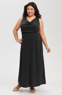 Splendid Cowl Neck Sleeveless Maxi Dress (Plus)