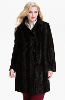 Gallery Faux Fur Coat (Plus)