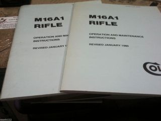 Two 2 Colt M16A1 Ar15 Rifle Operation Maintenance Gun Manuals Original