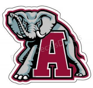 Alabama Crimson Tide College Football Sec Car Sticker Decal Free