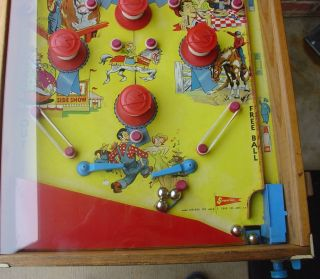 Vintage Superior Toy State Fair T Cohn Pinball Machine