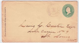 Clarksville Johnson County Arkansas 1881 Cancel on Cover