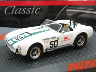 Ninco 50585 Classic Series AC Cobra BP Racing Team 1 32 Slot Car Brand