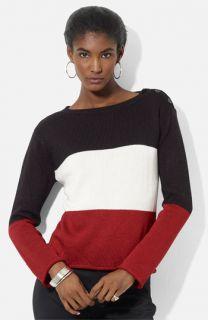 Lauren Ralph Lauren Button Shoulder Sweater