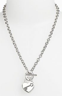 Tory Burch Louise Heart Charm Necklace