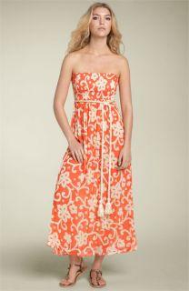 Scoop Beach Smocked Dress with Rope Belt