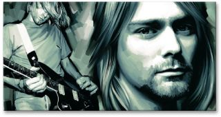 Kurt Cobain New Poster Signed Print Canvas Art Painting