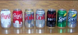 Holiday 2011 Sprite Diet Coke Zero CF Coca Cola 12 oz Full Cans