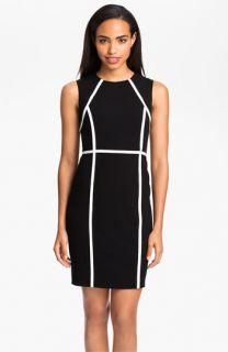 Calvin Klein Contrast Trim Sheath Dress