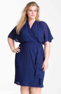 Donna Ricco Ruffle Chiffon Dress (Plus)