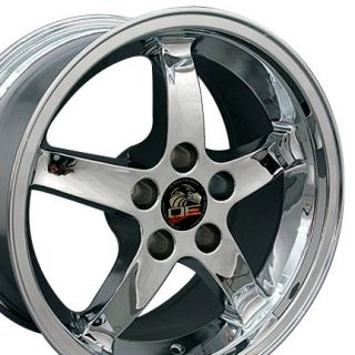 17 9/10.5 Chrome Cobra Wheels Rims Fit Mustang® GT 94 04
