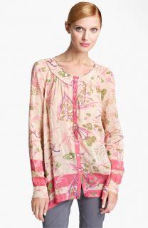 Donna Karan Collection Floral Print Blouse
