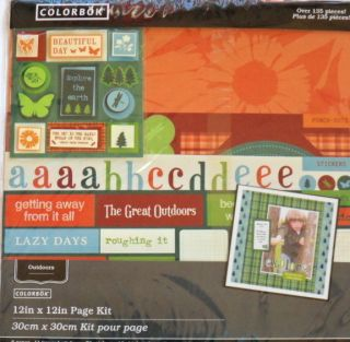 Colorbok Scrapbook Page Kit 135 Pcs 12 x 12 Outdoors