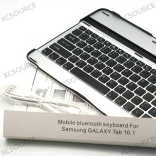 Alu Coque Clavier Bluetooth Keyboard pour Samsung Galaxy Tab 10.1