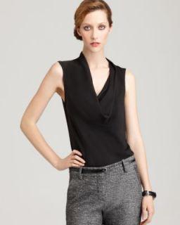Theory New Codey Black Silk Cowl Neck Sleeveless Blouse Shirt M BHFO