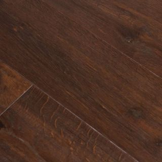 Hand Scraped Coffee Bean Oak Hardwood Flooring Wood Floor