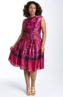 Eliza J Beaded Waist Dress (Plus)