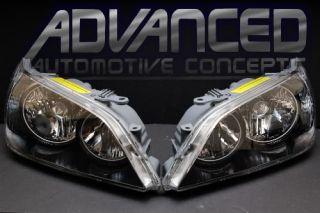 New Lexus IS300 Black Chrome Halo Headlights 01 05