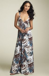 ABS by Allen Schwartz Print Jersey Maxi Dress